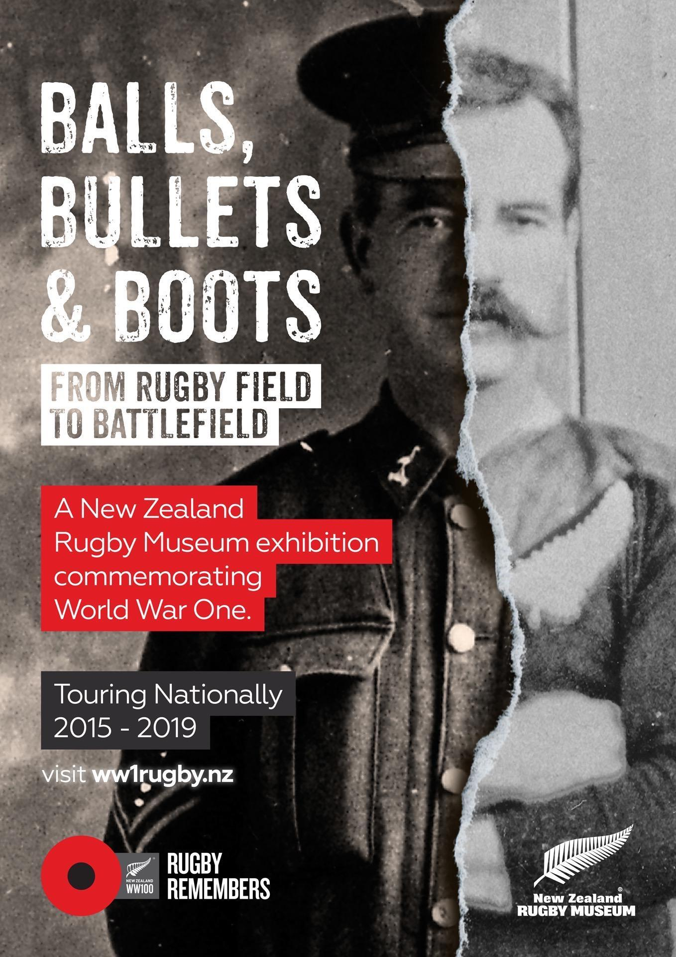 Balls, Bullets & Boots Exhibition image